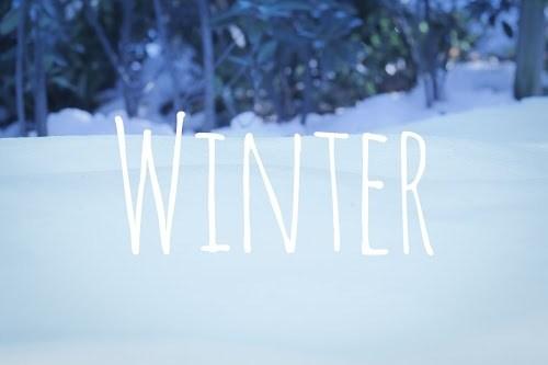 「冬」「文字入り」「雪」などがテーマのフリー写真画像