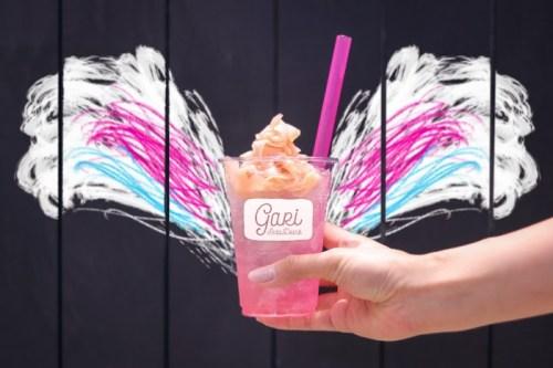 「エイプリルフール」「カフェ」「ガリ」「ガリソーダ」「ソーダ」「天使の羽」「飲み物」などがテーマのフリー写真画像