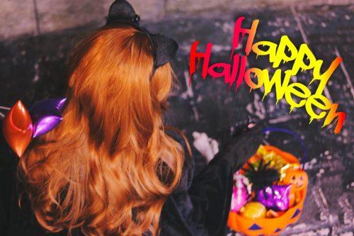 写真スタンプ:『HAPPY HALLOWEEN』黒猫版