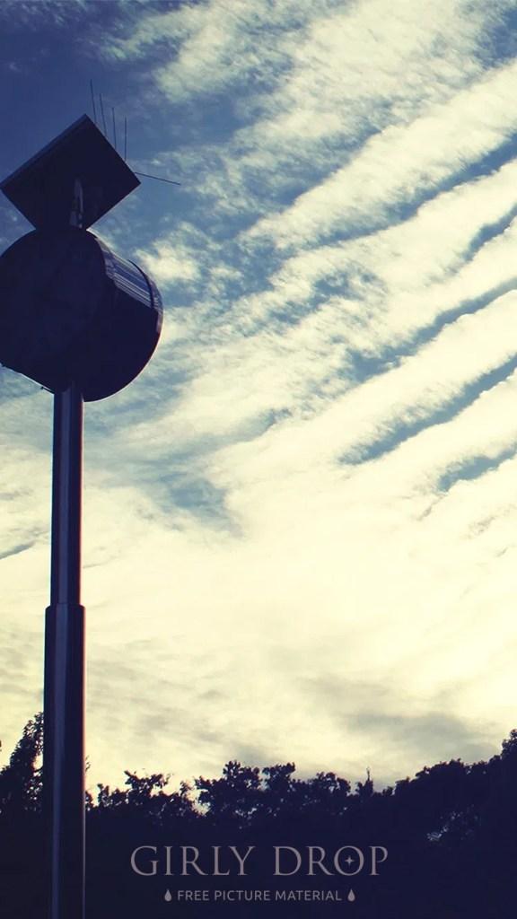 おしゃれなフリーのスマホ壁紙(待受け):【おしゃれなiPhone壁紙】夕方の秋の空とうろこ雲