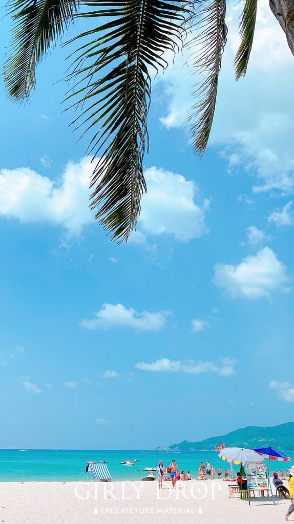 おしゃれなフリーのスマホ壁紙(待受け):【おしゃれなiPhone壁紙】プーケットのパトンビーチの風景