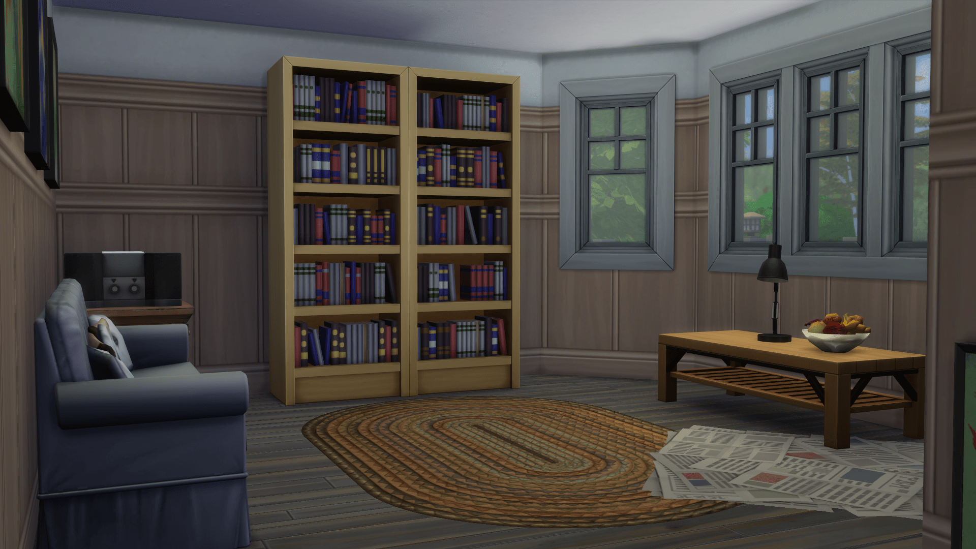 Country Chic Redesign-downstairs study before