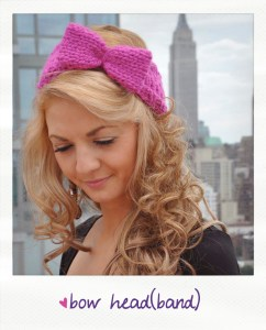bow head bow headband free knitting pattern