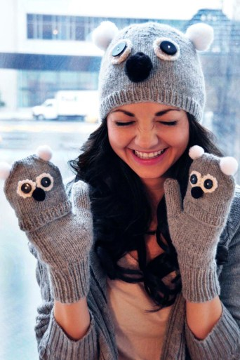 """Care to Cuddle"" Koala Hat and Gloves Set"