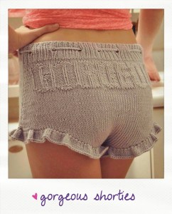 gorgeous shorties knitted shorts with ruffle knitting pattern