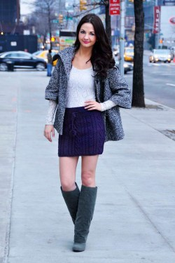heart me forever cable knit skirt knitting pattern 2