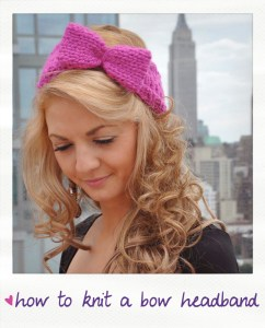 how to knit a bow headband free knitting tutorial
