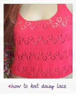 how to knit daisy lace video tutorial
