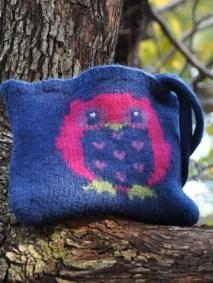"""""""Owl Always Love You"""" Felted Purse"""