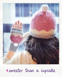 sweeter than a cupcake hat and mitten set knitting pattern