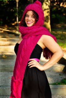 """Trifecta"" Hooded Scarf with Pockets"