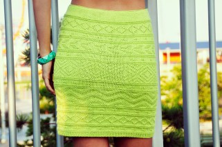 """""""Shes Electric"""" Aztec Pattern Bodycon Skirt"""