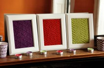 """""""Aztec Textures"""" Knitted Wall Art"""