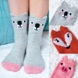"""Pawsome Pals"" Animal Socks"