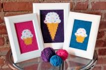 """Sweet Treats"" Knitted Wall Art"