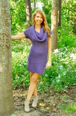 """""""Cowl Me Maybe"""" Textured Cowl Neck Dress"""
