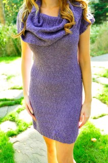"""Cowl Me Maybe"" Textured Cowl Neck Dress"