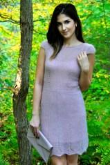 """Sheer Elegance"" Beaded Lace Dress"