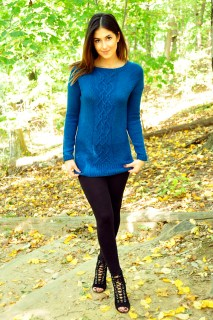 """""""Sweater Weather"""" Raglan Cable Knit Dress"""