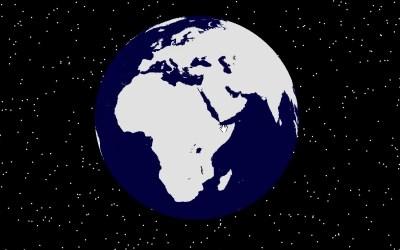 تصميم خريطة العالم من الفضاء