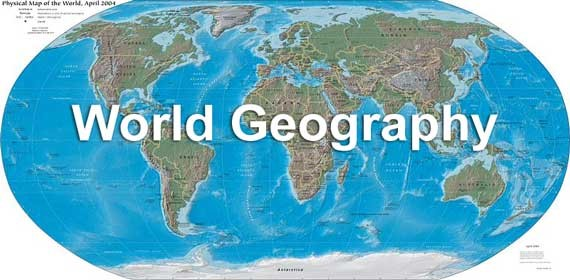 What does World Geography define?