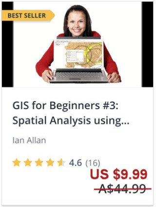 Click this link to enrol in this best selling QGIS tutorial - spatial analysis using QGIS