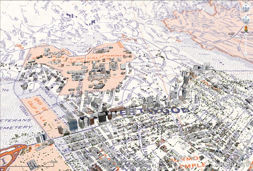 Viewing historical maps in Google Earth   The Urban Nomad 1967 Los Angeles in Google Earth