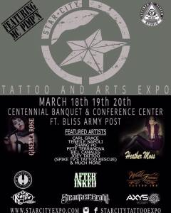 Star City Tattoo Expo | Sideshow + Suspension | 18 - 19 March 2016