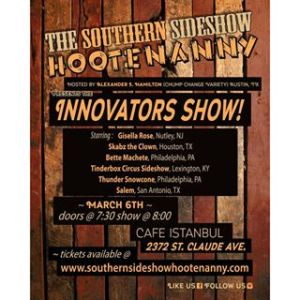 Southern Sideshow Hootenanny | The innovator's Show | 6 March 2016