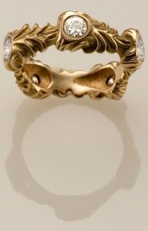 Celebration Ring, 18k Rose with Diamonds