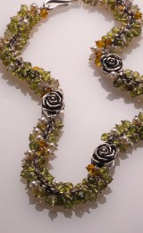 Rose Bud Choker, Citrine & Pearls