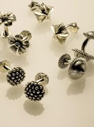 Sterling Flower Cufflinks