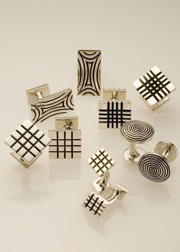 Jazz Cufflinks in Oxidized Sterling