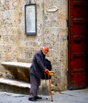 Beggar Man, Siena, Italy