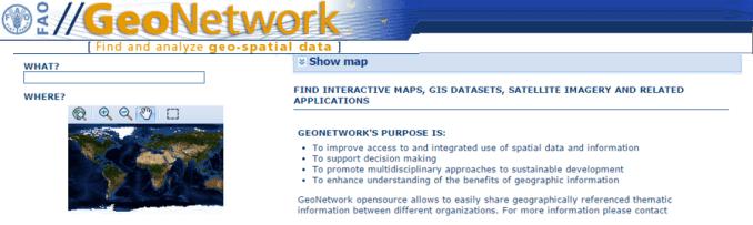 FAO GeoNetwork Free GIS Data