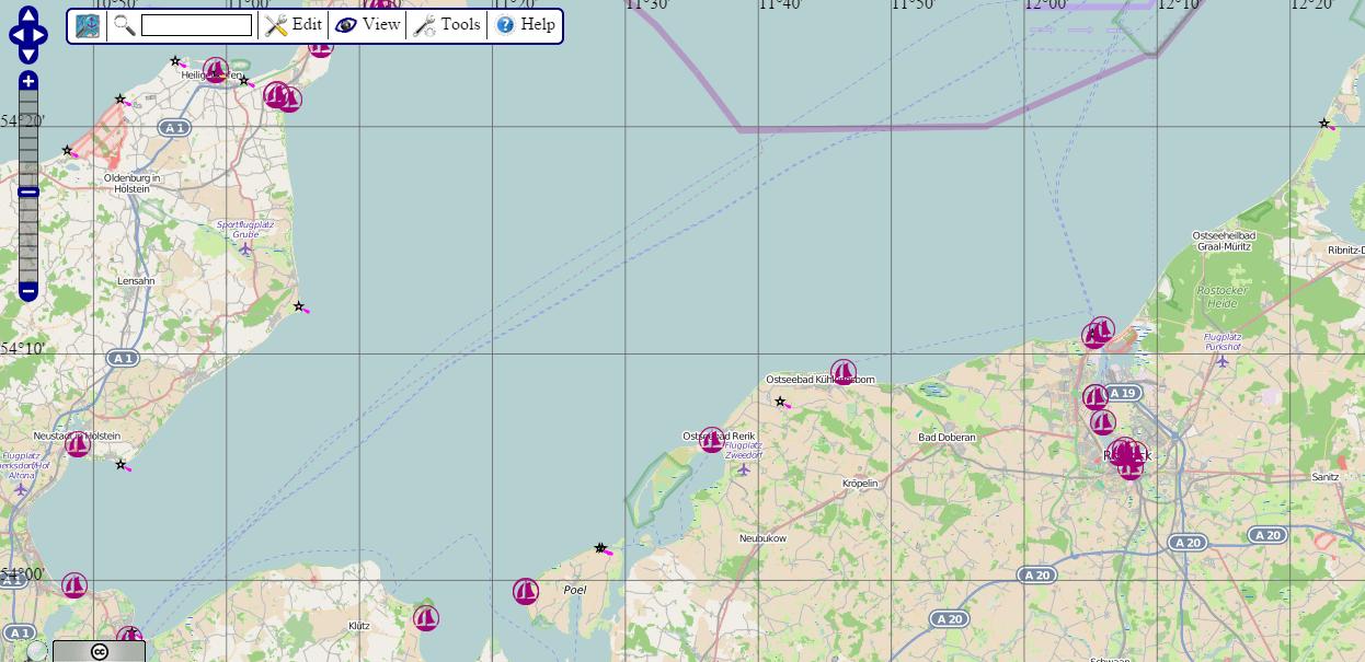 open sea map