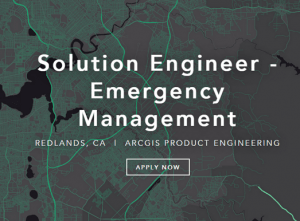 Esri Job - Solution Engineer Emergency Management