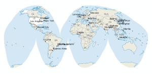 Orange Peel Map Projection: Goode Homolosine