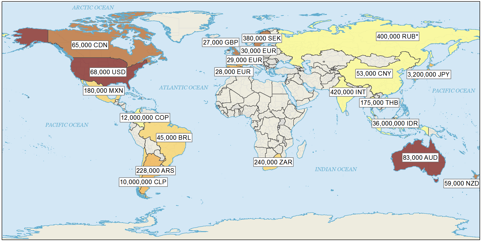 GIS Cartographer Salaries Map