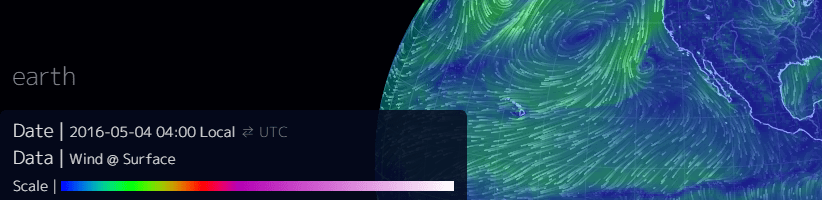 Wind Speed Map Legend