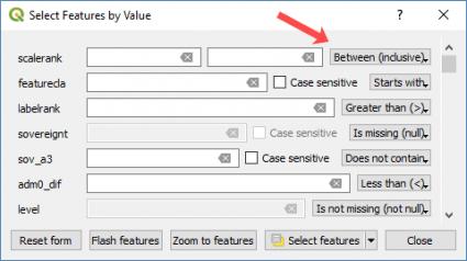 qgis 3 select feature value