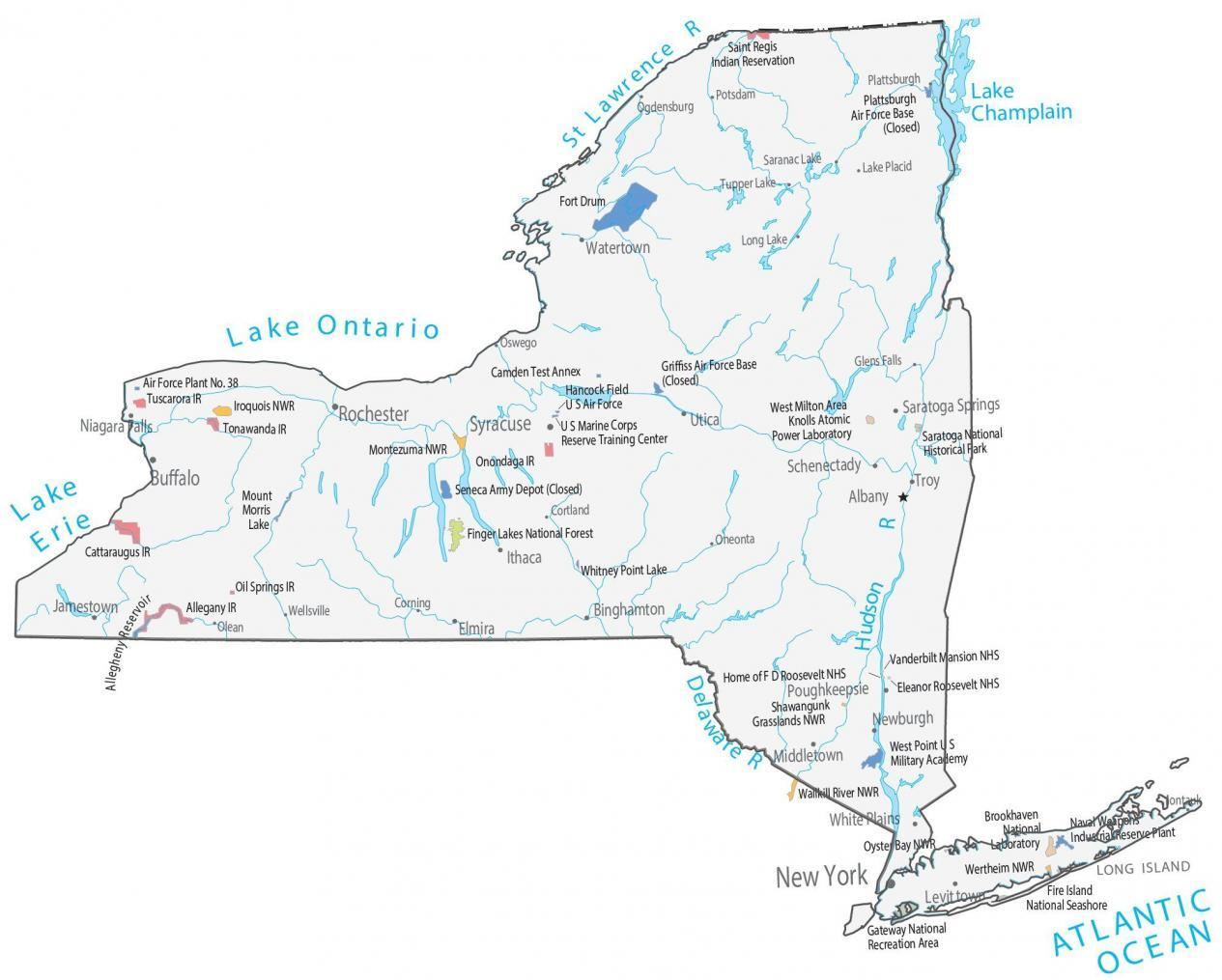 Map New York State