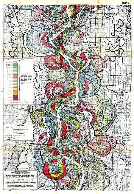 Ancient Course of the Mississippi Meander Belt, US Army Corps of Engineers, 1944.
