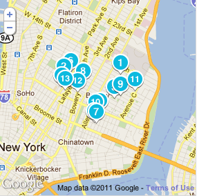 The beginnings of Foursquare, mapped out.