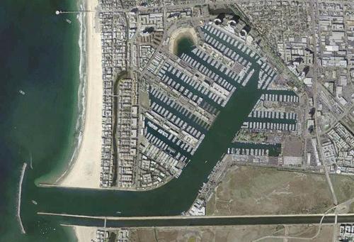 Aerial of Marina del Rey