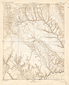 Topo Map of Escalante Quadrant, Utah from 1886.