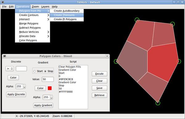 TdhGIS screenshot.