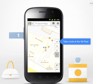 Google Maps 6.0 for Android allows users to navigate the inside of buildings.