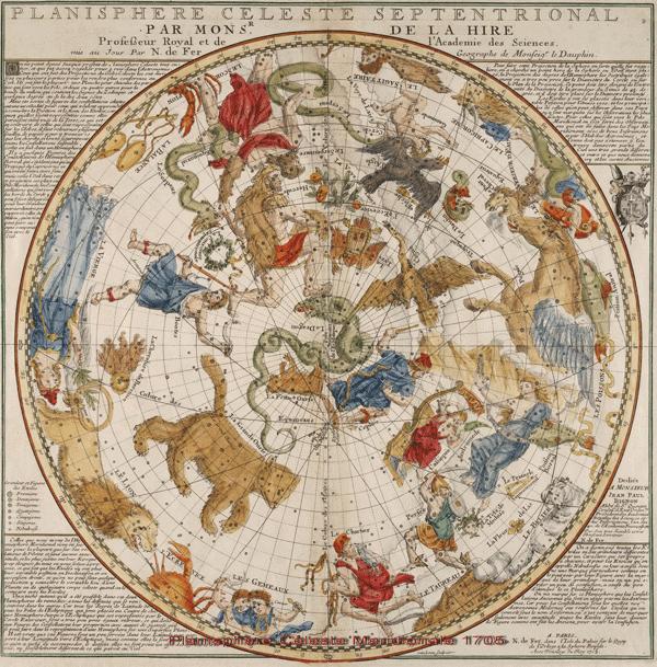 Planisphere Celeste Meridionale, 1705