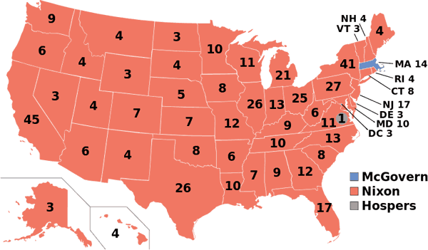 1972 presidential election map.